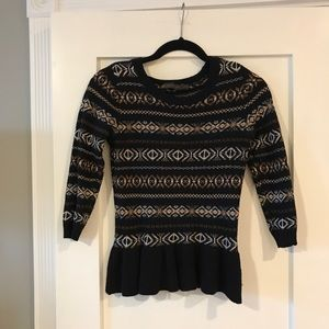 J Crew Peplum Sweater
